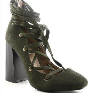 4/$20☀️ Cape Robbin Olive Bemice Pumps / Heels